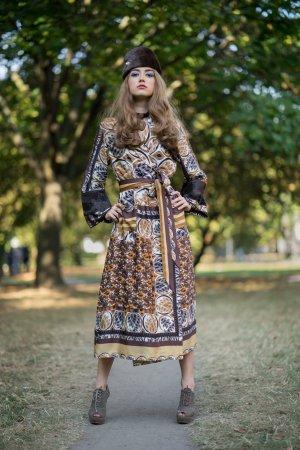 Evening Dress multicolored silk