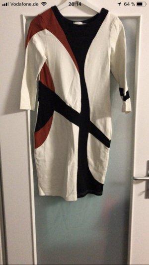 b.p.c. Bonprix Collection Midi-jurk wit-zwart