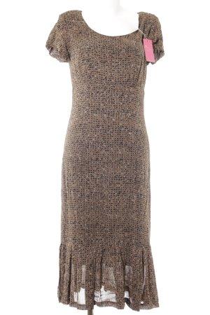 Midi Dress abstract pattern vintage look