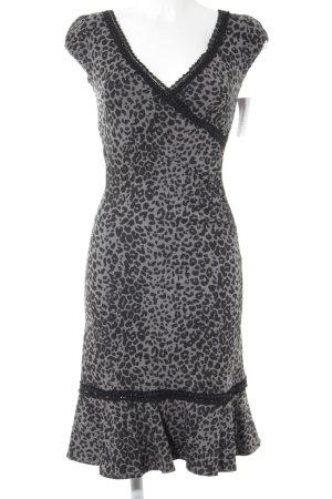 Midi-jurk dierenprint rockabilly stijl