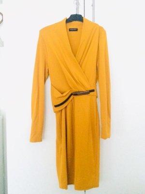 Blacky Dress Vestido ceñido de tubo marrón arena-naranja oscuro