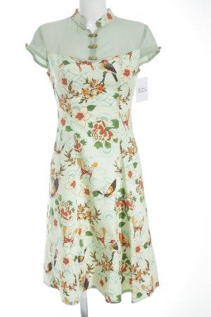 Robe mi-longue motif de fleur style romantique