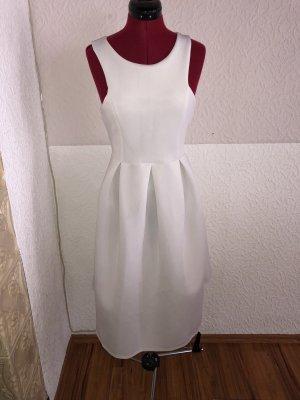 Boohoo Midi Dress white