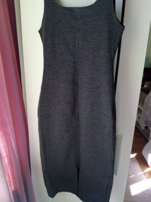 Zara Robe mi-longue noir polyester