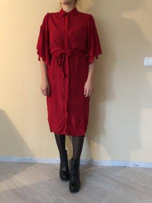 Zara Basic Shirtwaist dress red viscose