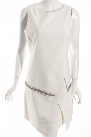 Midi-jurk licht beige-zilver elegant