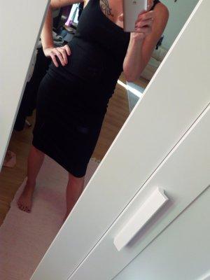 Zara Robe fourreau noir polyester