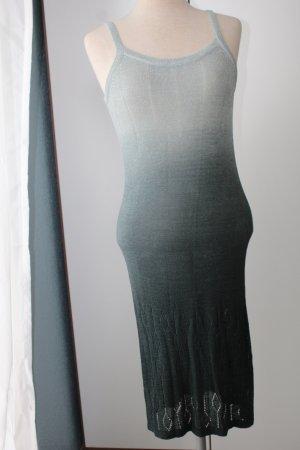 Midikleid Kleid lang Sommerkleid grün grau ombre Gr. 36