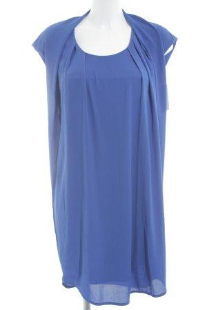 Robe mi-longue bleuet élégant