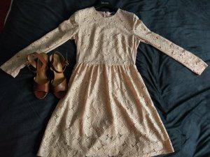 H&M Kanten jurk nude Katoen