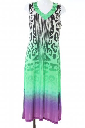 Midi Dress mixed pattern casual look
