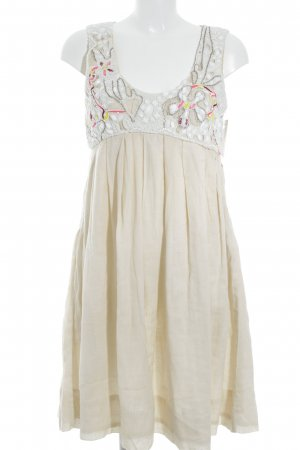 Midi-jurk nude abstract patroon straat-mode uitstraling