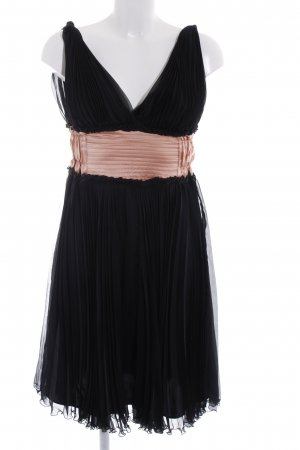 Midi Dress black-nude party style