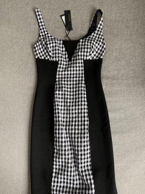 Versace Abito midi nero-bianco