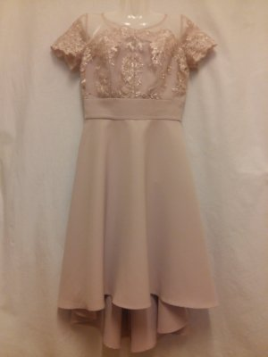 Chi Chi London Kanten jurk stoffig roze-mauve
