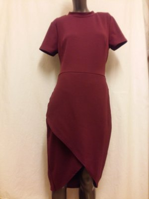 Club L Midi-jurk bordeaux Polyester