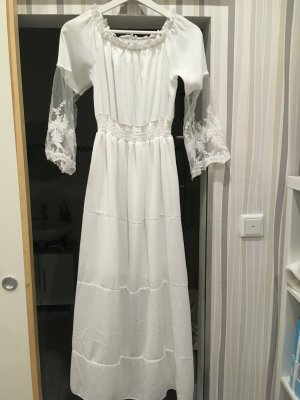 Robe empire blanc