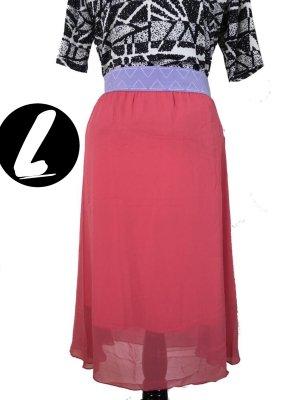 Midi Skirt pink-blue violet