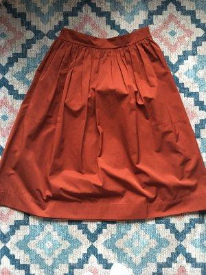 Zara Jupe mi-longue multicolore coton