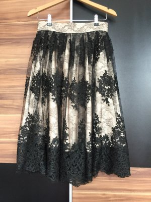 Lace Skirt nude-black
