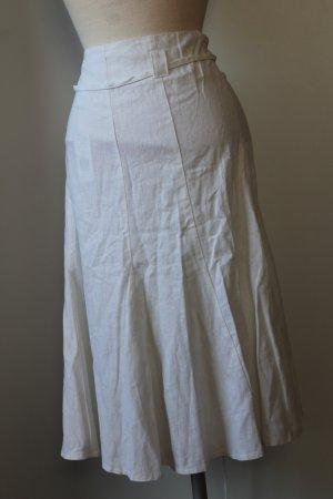 New Look Flared Skirt white linen