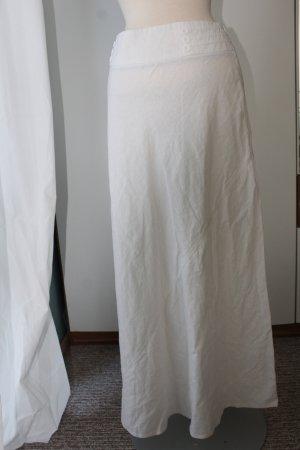 Midirock, Debenhams weiß 55 %Leinen 45% Viskose Gr. 42/14
