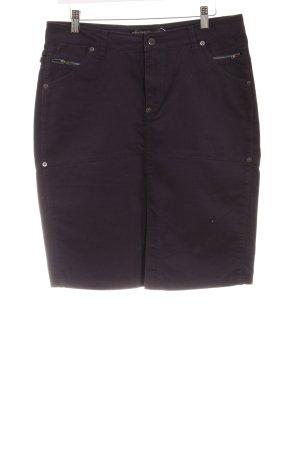 Midi-rok donkerblauw casual uitstraling