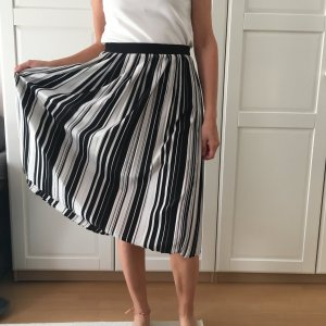 Amisu Plaid Skirt white-black synthetic fibre