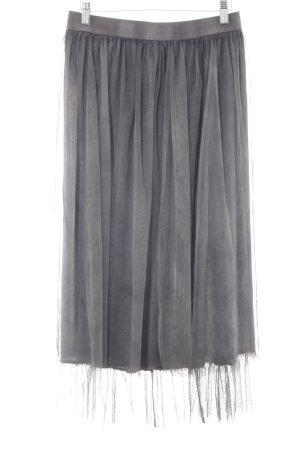 Midi-rok grijs-donkergrijs straat-mode uitstraling