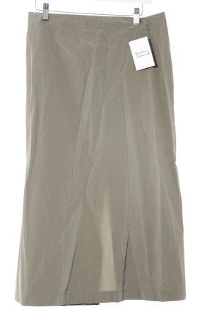 Falda midi gris verdoso estilo sencillo