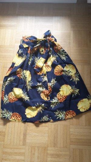 Midirock mit Ananasaufdruck