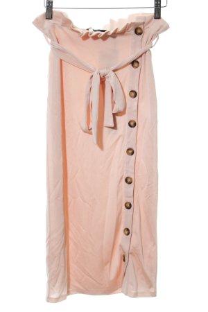 Falda midi rosa elegante