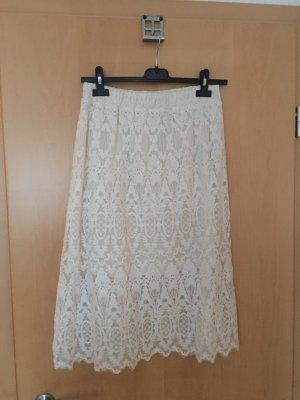 H&M Falda midi blanco