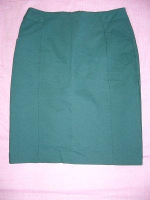 Midirock waldgrün 60 % Baumwolle H&M XS 34