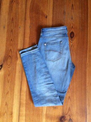 C&A Jeans a 7/8 azzurro Cotone