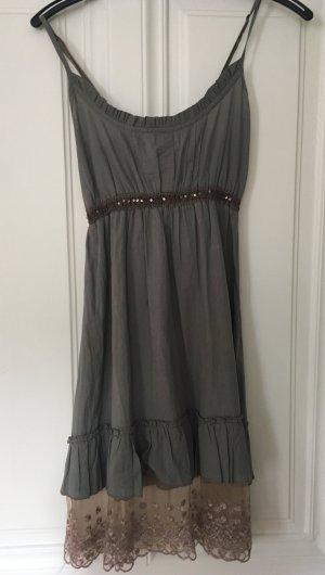 Babydoll-jurk groen-grijs