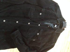 Miete mich für 12 € Echt-Lederhemd Oversized Druckknopf Größe 36 oder Größe 42