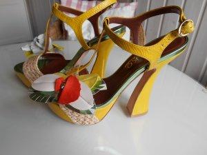 MIEZKO Atelier Plateau-Sandale High Heels Stylisch Sommerschuh NEU