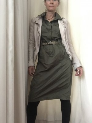 Costume National Blusenkleid khaki Casual-Look Mischgewebe