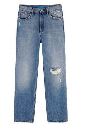 MIH Jeanne Jean Whiptail Wash Destroyed Jeans Denim Ripped Pants