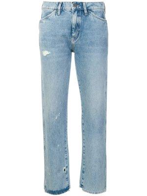 Mih jeans Jeans coupe-droite bleu azur coton