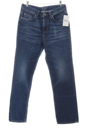 Mih jeans Hüftjeans dunkelblau Casual-Look