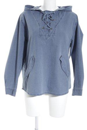 Mih jeans Kapuzenpullover kornblumenblau Jeans-Optik