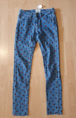 Mih jeans Skinny jeans donkerrood-blauw