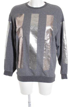 Mihara Yasuhiro Sweatshirt grau-altrosa Motivdruck Casual-Look