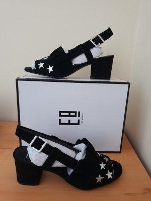 Miista High-Heeled Sandals black-silver-colored