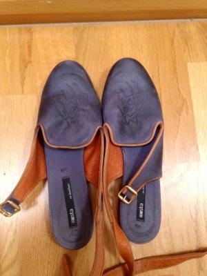 Miista Loafers / Slipper aus Veloursleder mit Pferdekopf