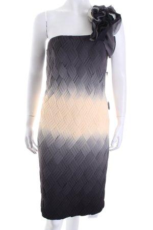 Mikael Aghal Vestido de un hombro gris-crema bloques de color elegante
