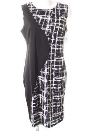 Mike is schulterfreies Kleid schwarz-weiß grafisches Muster Business-Look