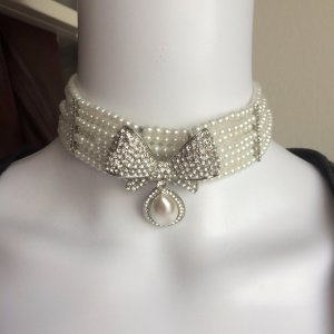 Collier zilver-wit